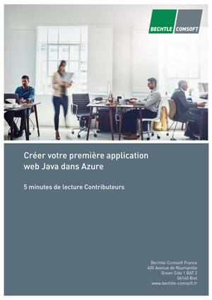 Créer votre première application web Java dans Azure-1