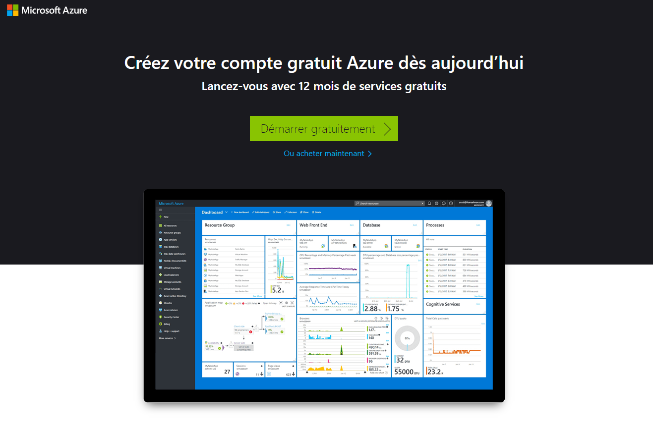 Souscription Azure à l'usage